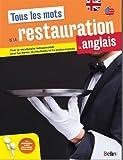Tous les mots de la restauration en anglais