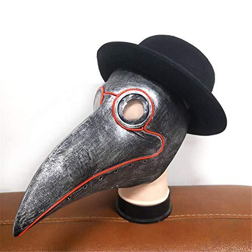 gel Maske Lange Nase Schnabel Cosplay Steampunk Halloween Maske Kostüm Requisiten lustige Weihnachtsfeier Rollenspiel Spielzeug,A ()