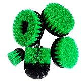 OMAS Grün 5 stücke Bohrer Power Reinigung Peeling Pinsel für Badezimmer Badewanne Dusche Fliesen Küche NEU