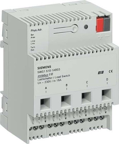 Siemens instabus eib - Interruptor n510/03 4 contactos potencia 16a