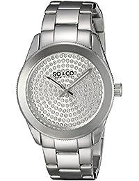 So y de Nueva York Madison Co para mujer reloj infantil de cuarzo con plateado esfera analógica y plateado correa de acero inoxidable de 5067,1