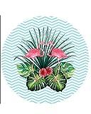 Saunatuch der Luxusklasse, Hamam Badetuch, Runde Boho Yogamatte Teppich Handtuch Tapisserie Badetuch Zigeuner Sonnenschutz Schal, dünn, saugstark Stil202 OneSize