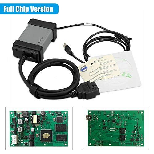 1x OBD2 Diagnostique voiture, outils de diagnostics, avec câble CARB intégré, valise diagnostic multimarque, pour Volvo VIDA DICE VID 2014D