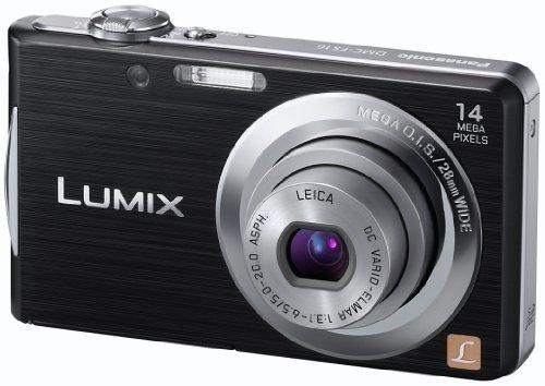 Panasonic Lumix DMC-FS16EG-K Digitalkamera (14 Megapixel, 4-fach opt. Zoom, 6,7 cm (2,7 Zoll) Display, bildstabilisiert) schwarz