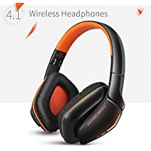 KOTION EACH Auriculares Bluetooth Wireless Headset B3506 Plegable Gaming Headset v4.1 con Microfono para PS4 PC MAC Smartphones Ordenadores(Negro+Naranja)