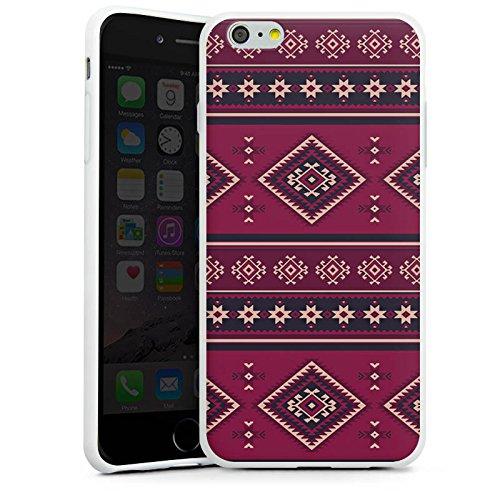 Apple iPhone X Silikon Hülle Case Schutzhülle Ethno Muster Indianer Silikon Case weiß