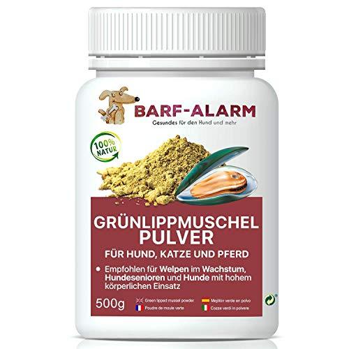 barf-alarm Grünlippmuschel Hund 100% Grünlippmuschelpulver für Hunde 500g - Grünlippmuschelextrakt Hunde Perna Canaliculus - Barf Pulver