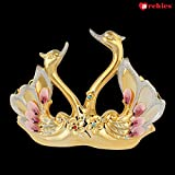 [Sponsored]Archies Handicrafted Golden Swan Couple Showpiece For Home Décor And Gift - (H -23 Cm)