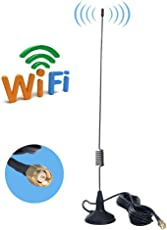 URANT 7DBi Magnet Antenna High Gain Omni Directional 3G 4G LTE GSM 2.4G with SMA Male Connector and 2.5m Long Cable(SMA-03)