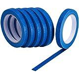 Bememo 6 pièces Painters Tapes Bleu Rubans de masquage Multi-fonction 1/2-pouce vpar 30 mètres, 180 m de longueur en totale