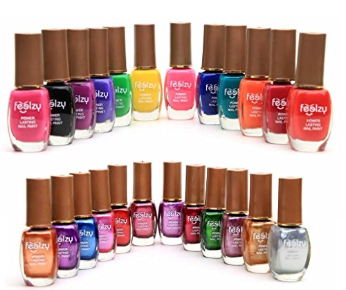 Foolzy® Pack of 24 Multicolor Nail Paint Polish (FOO-NP-TP10)