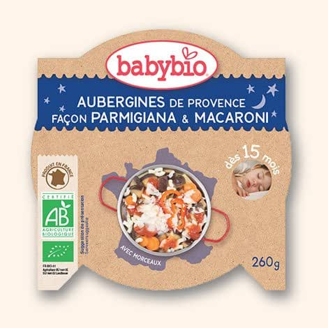 Babybio - Bonne nuit Légumes pâtes à l'italienne au parmesan L'assiette de 260g( Prix Unitaire ) - Envoi Rapide Et Soignée