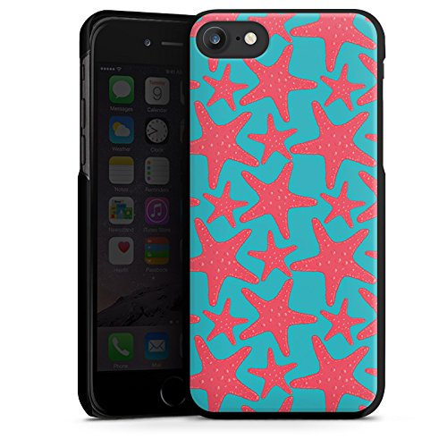 Apple iPhone X Silikon Hülle Case Schutzhülle Seestern Sommer Urlaub Hard Case schwarz