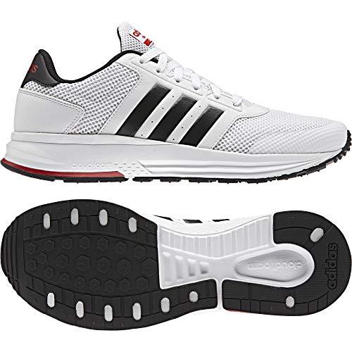 adidas Cloudfoam Saturn, Zapatillas para Hombre, Blanco (Ftwbla/Negbas/Escarl), 41 EU