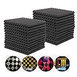 EEvER Multitool-Werkzeugzubehör Akustische Schaum-Platten, 6Pcs akustische schalldichte Ton-Endabsorption für KTV Audio-Raum (Farbe : 12pcs)