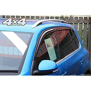 Autoclover Windabweiser-Set für VW Tiguan 2007-2015, 4-teilig (geräuchert)