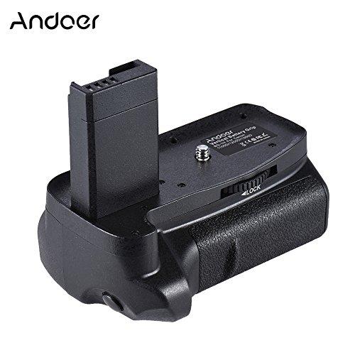 Andoer Batteriegriff Vertikaler BG-1H Kompatibel mit 2 * LP-E10 Akku für Canon EOS 1100D 1200D 1300D / Rebel T3 T5 T6 / kiss X50 X70 DSLR Kameras