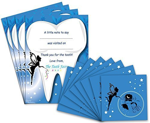 Tooth Fairy Gift Set ~ 8 Envelopes & 4 Certificates