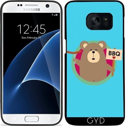Custodia in silicone per Samsung Galaxy S7 (SM-G930) - Grizzly Bbq Amore by ilovecotton