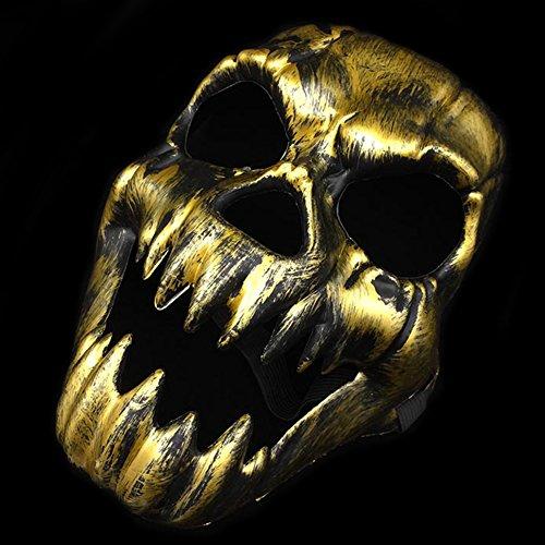 ROKFSCL Scary Ghost Skull Skeleton Maske ANTIKE Fangs Skull MASK Cosplay KREATIVE ()