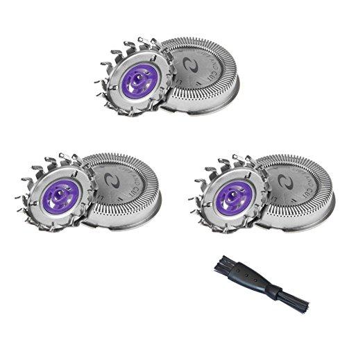 oral-q 3x Dual Klingen System Alternative Scherköpfe-Rasur für Philips HQ6645Rasierer mit Reinigung Pinsel -