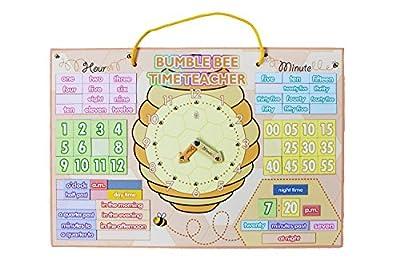 Tabla de aprender la hora de los niños, tabla de la hora de Tell the Time - tabla de la hora de la abeja Yoyoboko de Yoyoboko