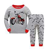 Kinder Jungen Zweiteiliger langärmliger Schlafanzug Baumwolle Motorrad Größe 2 Jahr