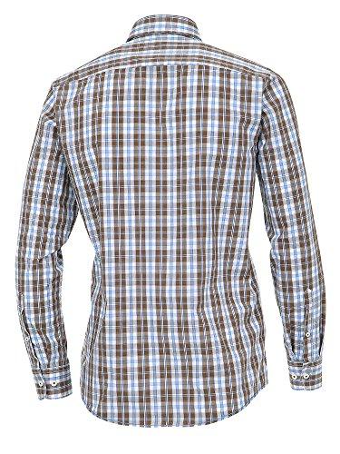 CASAMODA Herren Freizeithemd auch große Größen 100% Baumwolle - Casual Fit Braun