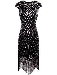FAIRY COUPLE Vestito Gatsby Donne 1920s Vestito Abito Anni 20 Donna Vestito  da Sera Paillette Impreziosito Frange… 4cf6e1119af