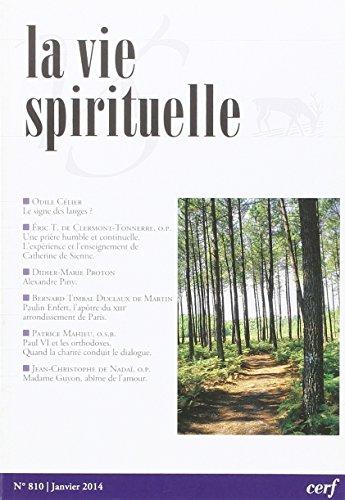 La Vie Spirituelle Vs810 par Collectif