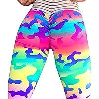 Pantalones Yoga Mujeres Estampado de Camuflaje Leggins Fitness Pantalones Elasticidad de Moda Empalmada Cintura Alta Elasticidad Pantalones De Correr Leggings EláSticos De Flaco Fitness Leggins Mujer