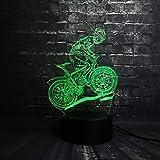 Luce Notturna A Led Multicolore Lava Led Rgb Ciclismo Uomo Tavolo Regalo Di Natale Per Bambini Decorazione Domestica Riflettore Ragazzo