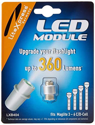 Litexpress LXB404 Led Upgrade Modul 360 Lumen Maglite Taschenlampe (Geeignet für 3 - 6 C/D-Cell Maglite Taschenlampen) -