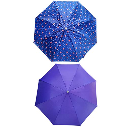 Umbrella for Women   Umbrella for Men   Umbrella Combo Set of 2   2 fold Umbrella   Ladies Umbrella   Purple and Multi-Color Combo Umbrella by Five Star  