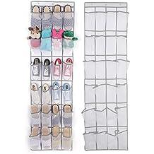 lalilei 24bolsillos para colgar sobre la puerta zapato de almacenamiento bolsas, plegable en la pared zapatero organizador armario/juguetes bolsa de almacenamiento