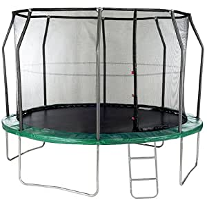 Trampolines 12ft Trampoline With Safety Enclosure FREE COVER AND LADDER High Specification Trampoline From Telstar