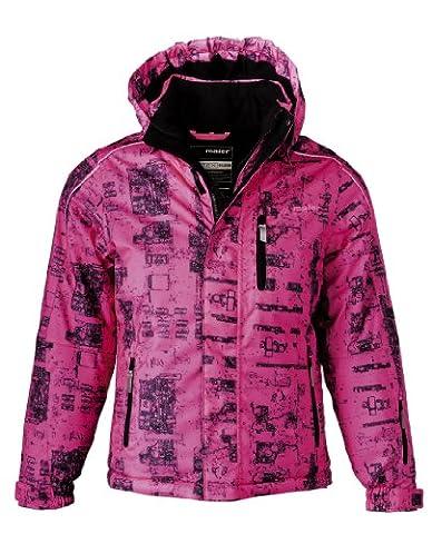 Maier Sports Kinder Ski-Jacke Platine mTEX girl, neon pink allover, 176, 310258
