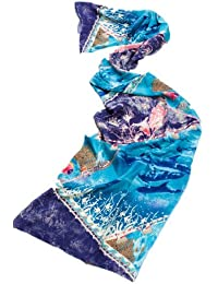 Prettystern - Echarpe -  Homme Bleu Multi-color