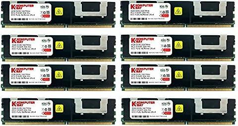 Komputerbay 32GB (8x 4GB) DDR2 PC2-5300F 667MHz CL5 ECC Fully Buffered FB-DIMM (240 PIN) 32 GB w /