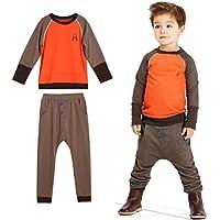 Culater® bambini bambino ragazzo Sprint manica lunga T-shirt + pantaloni
