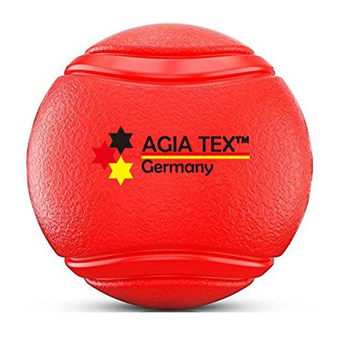 AGIA TEX Hunde-Spielzeug Hundeball mit und ohne Seil | Wurf-Ball, Schleuderball | Zerr- und Apportierspielzeug für große und kleine Hunde | Hundespielball aus robusten Naturkautschuk 1 Stück M Ball ohne Seil