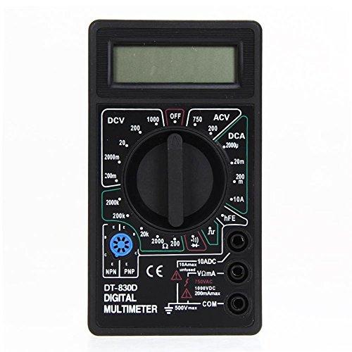 Multimeter Ohm Voltmeter Amperemeter Avo Meter DT830D Test führt LCD ()