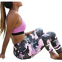Mounter Women Girls Printing Legging,Novelty [Sports Yoga Workout Legging] Gym Fitness Ladies Exercise Athletic Pants (Pink, S)