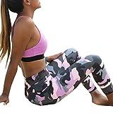 Mounter mujeres niñas Leggings impresión, novedad [deportes Yoga Workout Leggings] gimnasio Fitness ejercicio deportivo pantalones, Rosa, Small