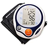 LotFancy Blood Pressure Monitor - Automatic Digital BP Machine with Upper Arm Cuff & Irregular Heartbeat Detector - Most Accurate & Portable for Home Use - 3.3' LCD, FDA Approved (Large Cuff 9-17')
