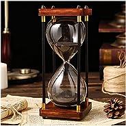 الساعة الرملية المؤقت 30/60 دقيقة الزجاج الرملي الساعة الرملية، الإطار الخشبي ساعة الموقت الرملي، عصري ملون