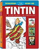 Tintin - 3 aventures - Vol. 4 : 7 boules de Cristal + Le Temple du soleil + L'Etoile mystérieuse [Combo Blu-ray + DVD]