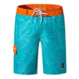 DaySing Short De Bains La Mode des Hommes Casual Impression Patchwork Plage Surf Natation Pantalon Court LâChe Shorts Pantalon Court De Sport Plage Mer Loisir
