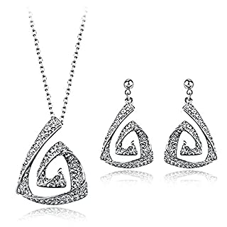 Atemberaubende Airy Designer Set mit Diamant Swarovski-Kristallen in 18 Karat vergoldet Qualitätsgeschenk für Frauen