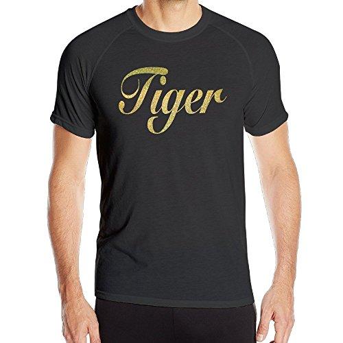 T&Tat Men's Golden Tiger Bling Quick Dry Athletic Tshirt Medium (Athletic T-shirt Tiger)